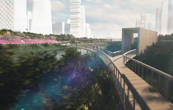Landscape Architecture Animation 3D Rendering Flythrough | James Corner Field Operations - Qianhai Waterfront Park 深圳 前海区 前海水城绿岸 城市 建筑 视频 电影 Playhou.se