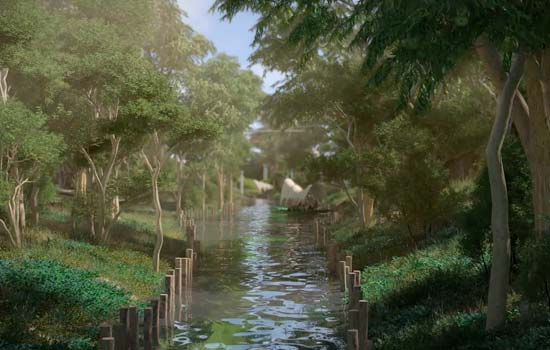 realistic 3d flythrough animation landscape architecture design Martha Schwartz Partners AECOM Jurong lake Park singapore playhou.se playhouse animation richie gelles