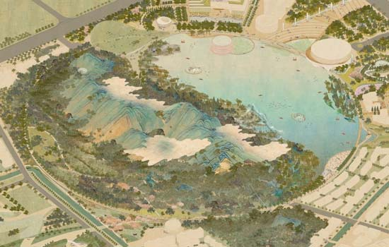 Urban Landscape Design Animation | Tom Leader Studio - Lion Mountain Park suzhou china urban planning architecture graphic multimedia traditional chinese painting axonometric playhou.se playhouse 狮山公园 苏州 中国 建筑 城市 视频 richie gelles