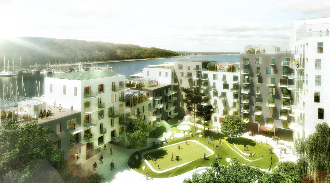 3d rendering architecture architectural animation aarhus copenhagen denmark subsidized housing Adept playhou.se playhouse